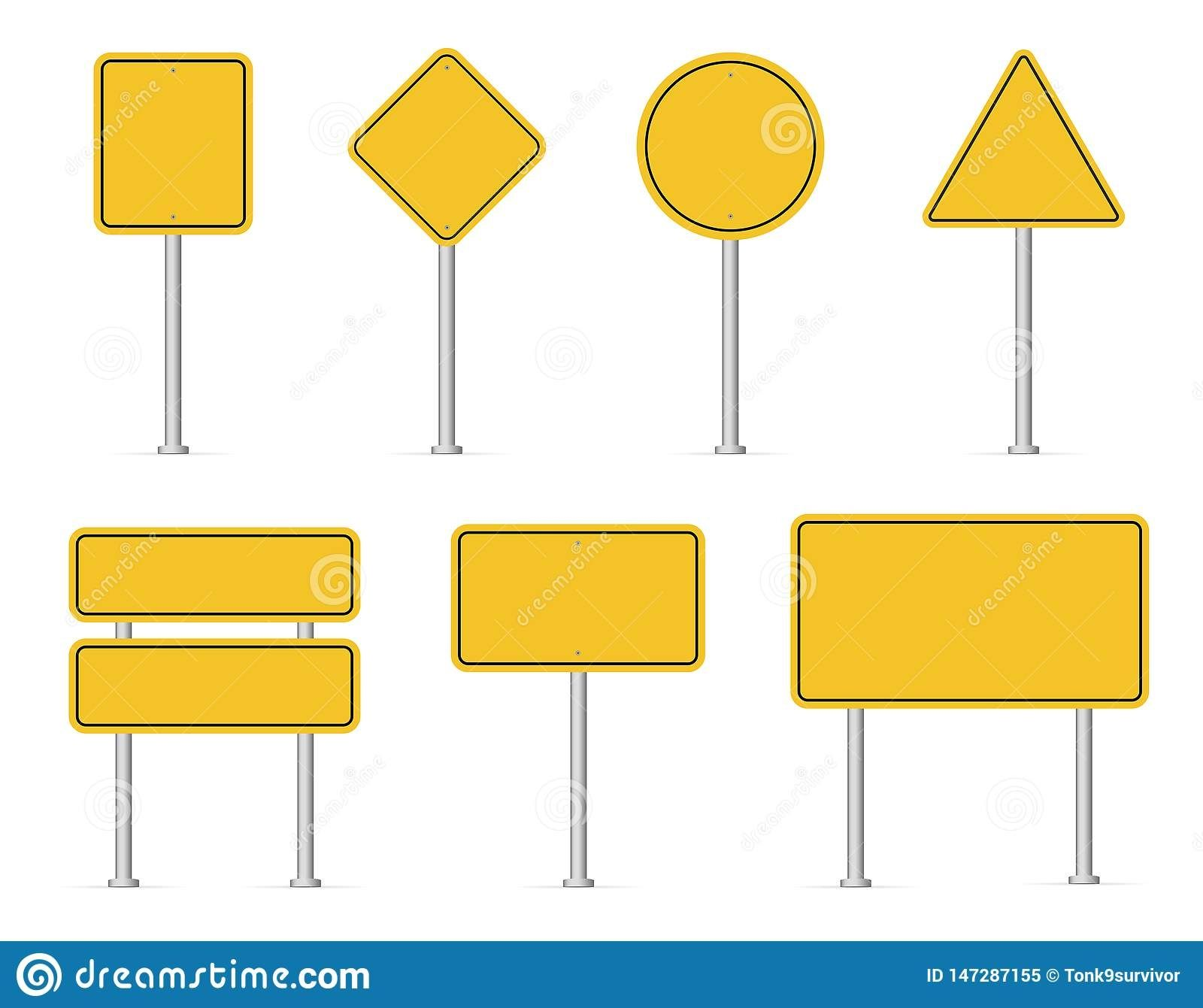 Blank Road Sign Clipart Free Clip Art Street Signs White Background Images