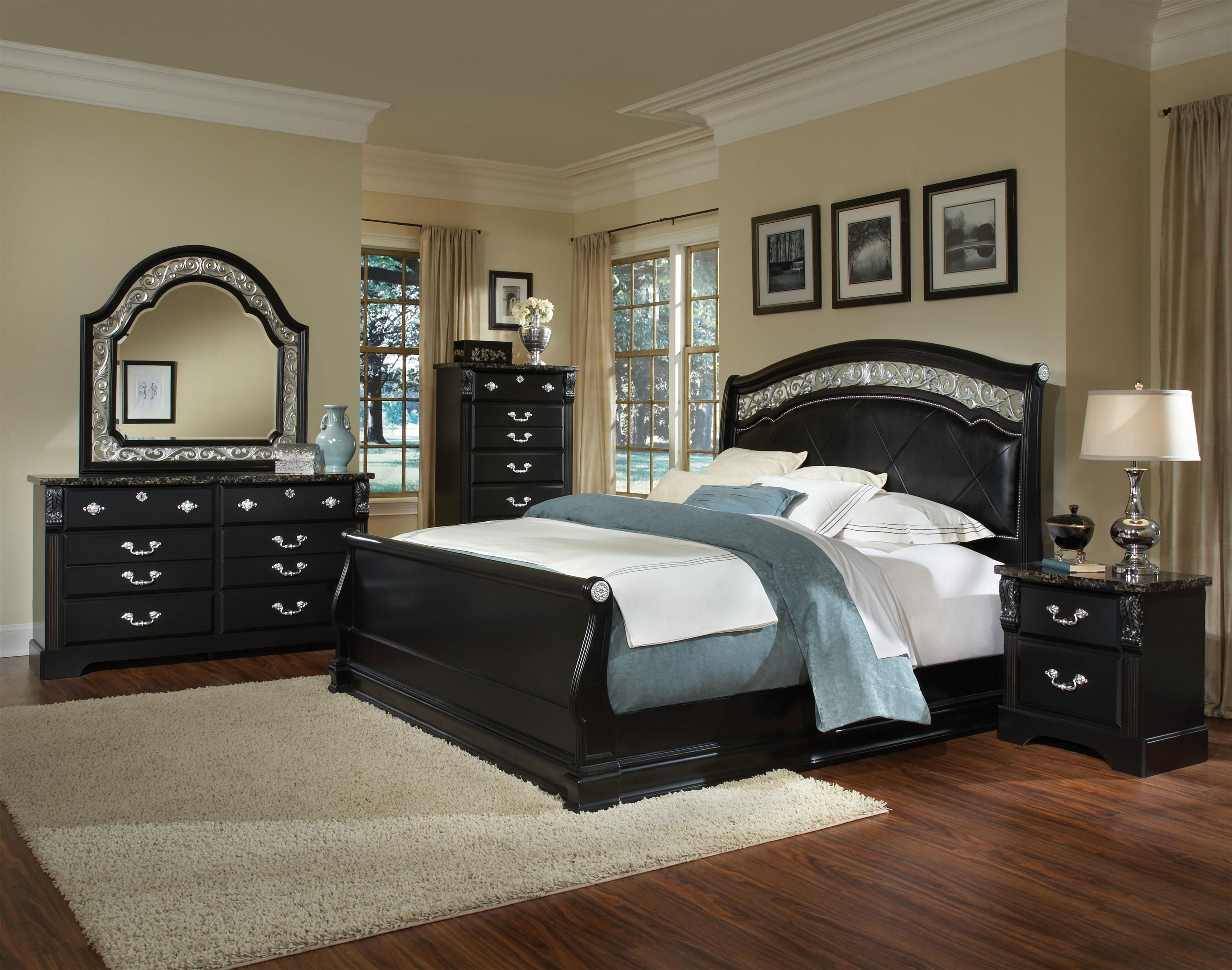 Black Bedroom Furniture Very Nice Standard Furniture Bedroom