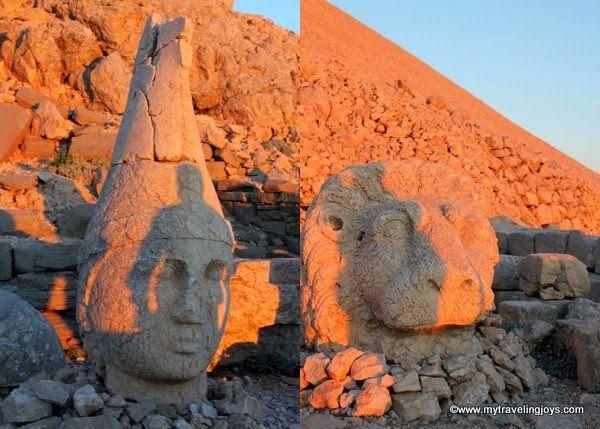 Fallen statue heads on top of Mount Nemrut ~ My Traveling Joys