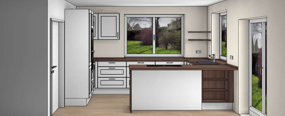 Der Küchenkauf Massivhaus, Haus bauen, Haus