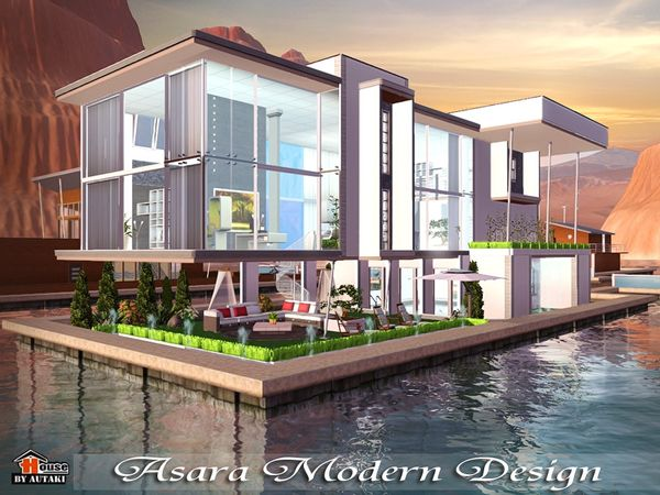 asara m design house by autaki sims 3 downloads cc caboodle - Sims 4 Home Design 2