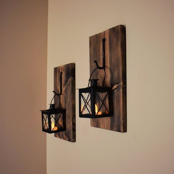 Rustic Wall Decor Sconce Candle