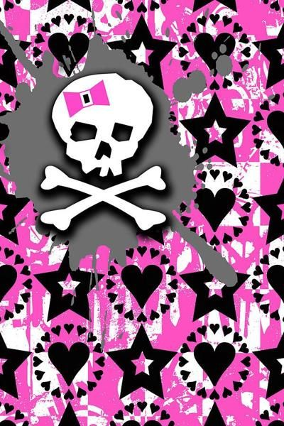 Girly Skull 3 Of 6 Digital Art Wallpapers Skull