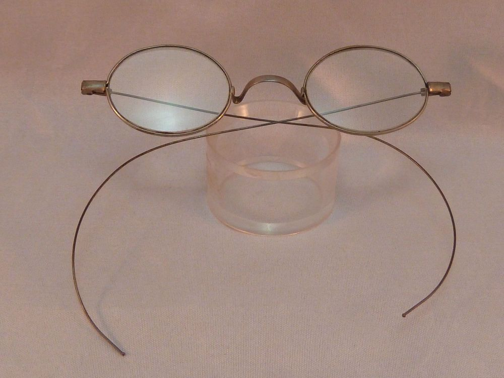 Antique Eyeglasses Oval Riding Temple Glasses Frames Cable Temples ...