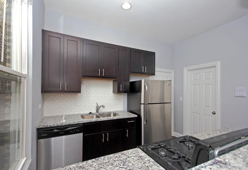 Great Kitchen With Galley Subway Tile