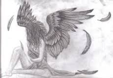 Image result for pencil drawings fallen angels