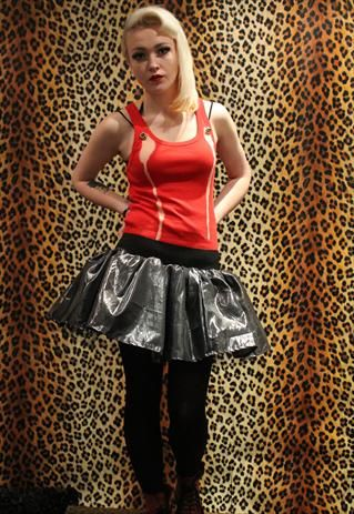 0851ca877e Pretty Disturbia Red Dip Dyed Embellished Punk Grunge Vest from Pretty  Disturbia