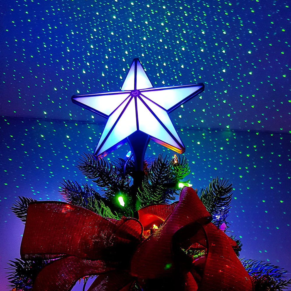 Laser Christmas Tree Topper in 2020 Lighted tree topper