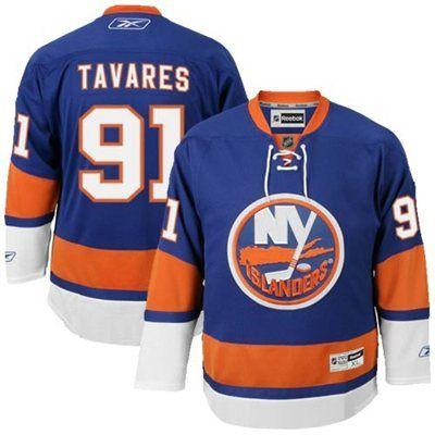 d3932991a Mens New York Islanders  91 John Tavares Reebok Royal Blue Premier Player Hockey  Jersey