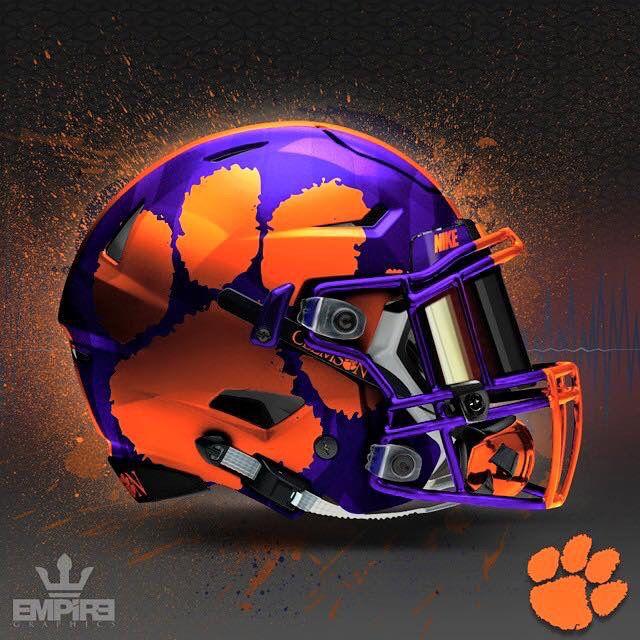 Clemson Cool Football Helmets Clemson Tigers Football Football Helmet Design