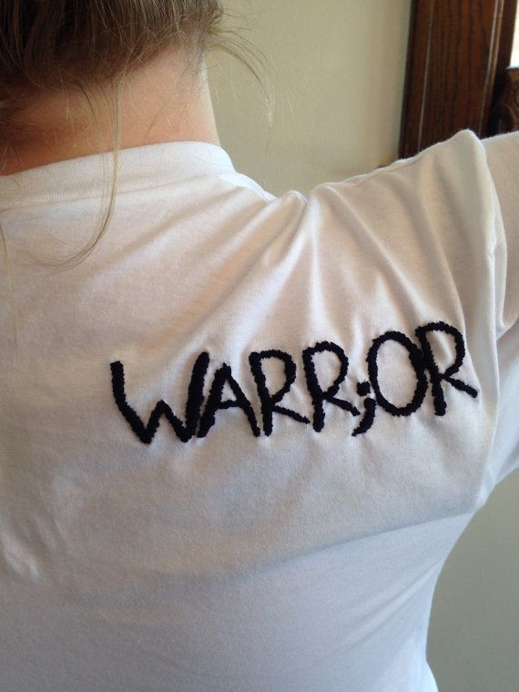 a386fd3888d186 Made to Order-Hand Embroidered Warr or Tee by jenEembroidery Mental  Illness