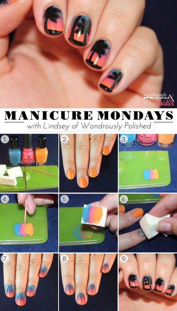 25 Fun and Easy Nail Art Tutorials | Nails | Pinterest | Easy nail ...