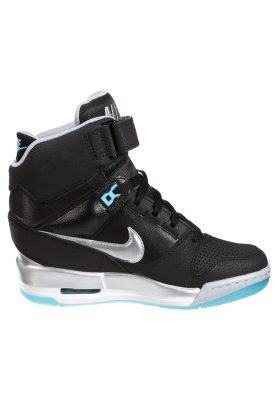 AIR REVOLUTION SKY - High-top trainers - black/metallic silver/clearwater/ white