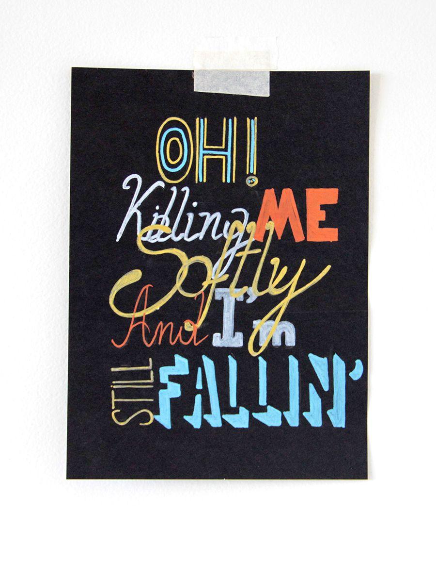 Countdown lettering by Barbara Miranda, 2011.