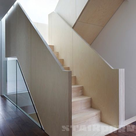 Best Birch Ply Balustrade Stairporn Org Timber Stair 400 x 300