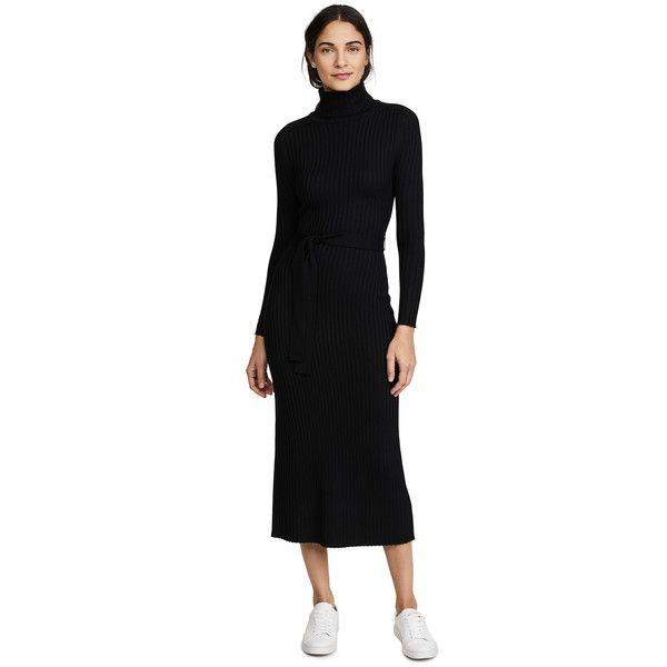 Black Turtleneck Maxi Dress