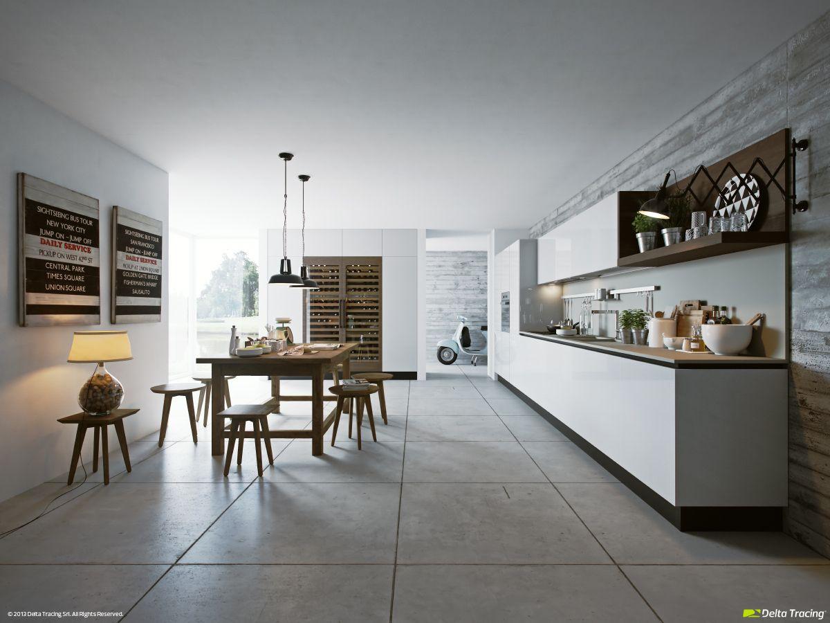 Diseño de cocinas modernas: iluminación de interiores | Iluminacion ...