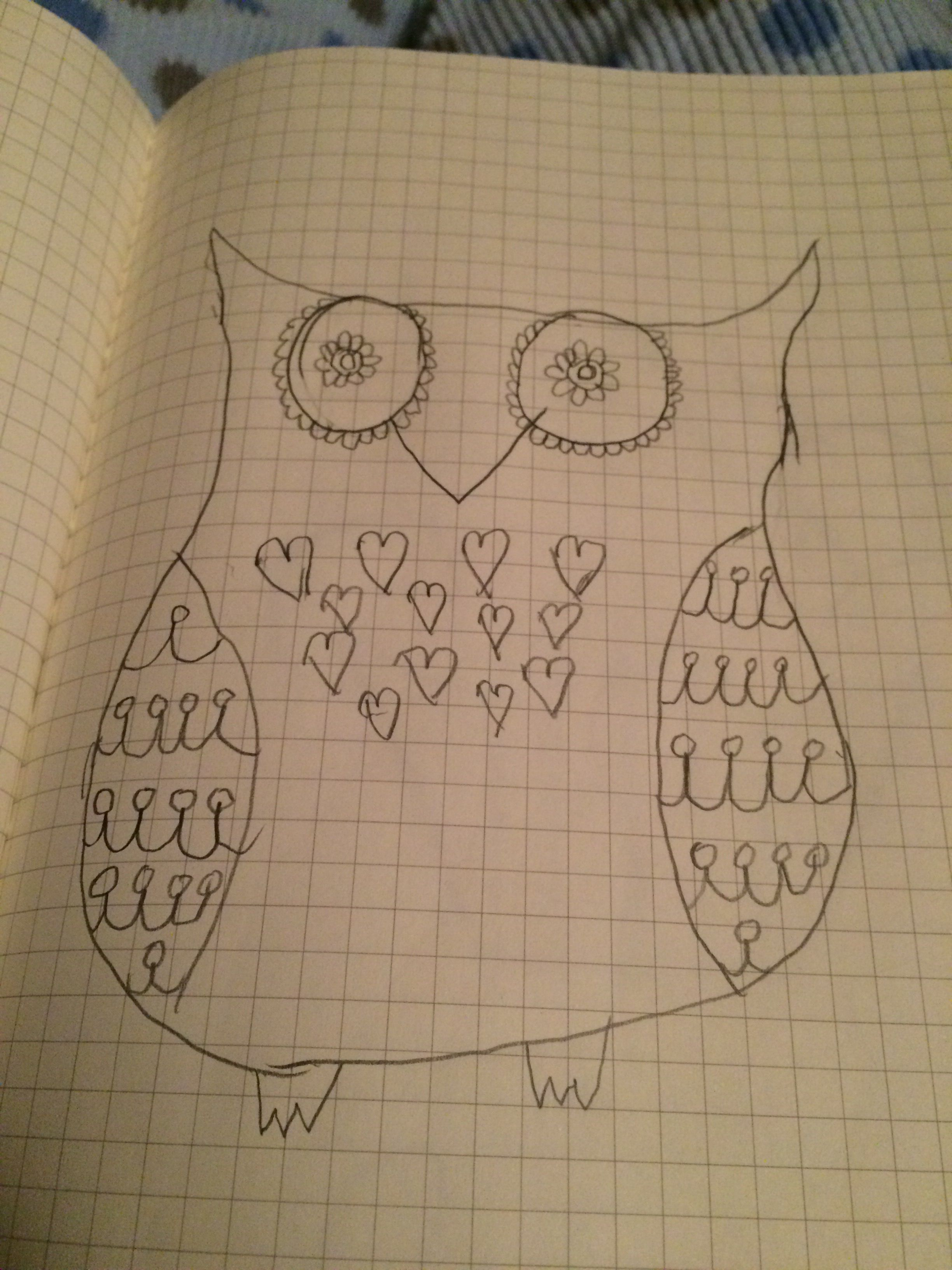 My Drawing Of A Owl