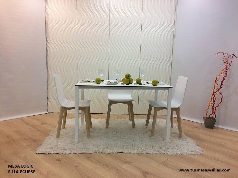 mesa cocina moderna cuadrada Logic cancio 80 x 90 | Mesa de comedor ...