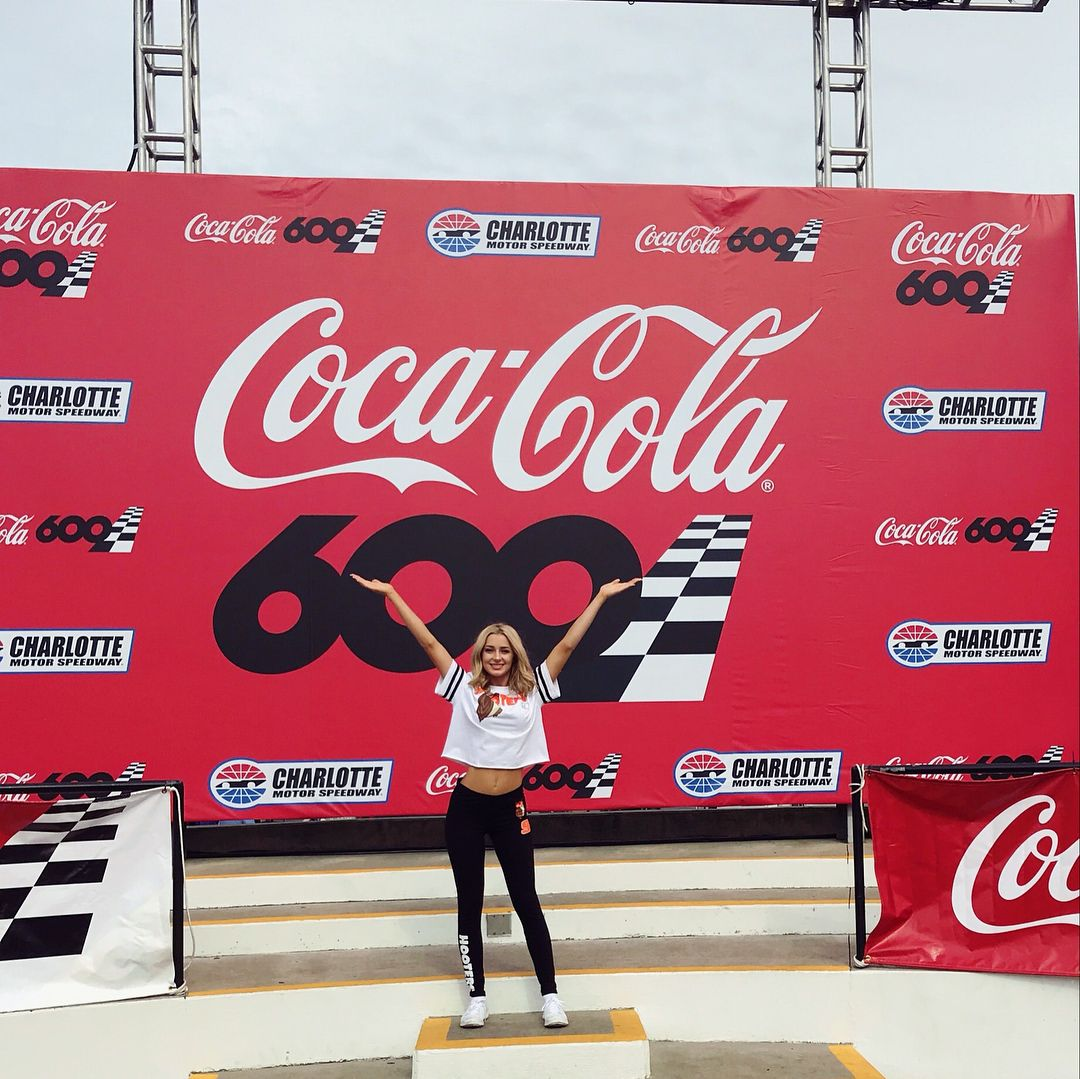 So Happy I Got To Cheer On Chase Elliot Form The Vip Rooftop Pit Tonight Cocacola600 Hooterstv Hootersbikinicontest Nascar