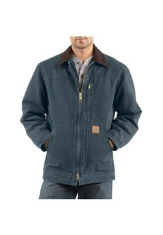 Carhartt Mens C61 Sandstone Ridge Sherpa Lined Coat - Deep Blue | Buy Now at camouflage.ca