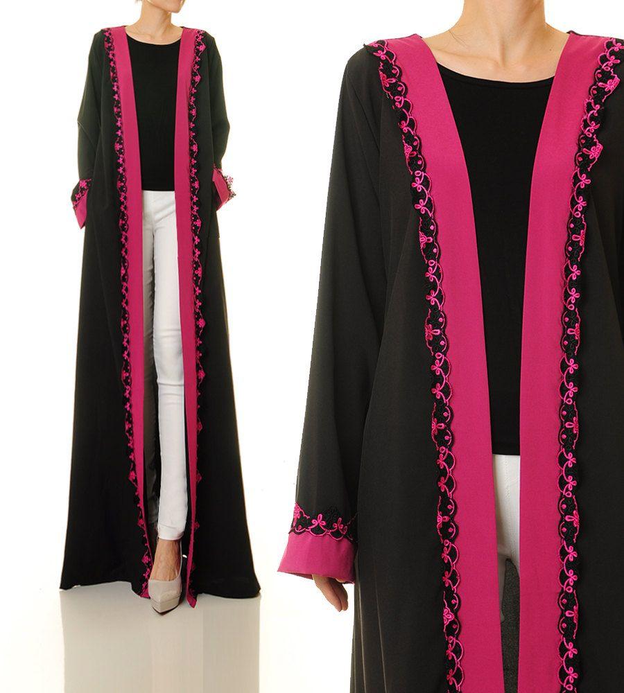 Maxi Cardigan | Black Cardigan | Long Sleeve Cardigan Abaya | Long ...