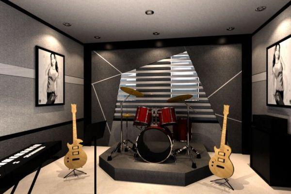 Cool Small Minimalist Of Home Music Studio Ideas Muziekkamers Muziek Kamer Thuisbioscoop