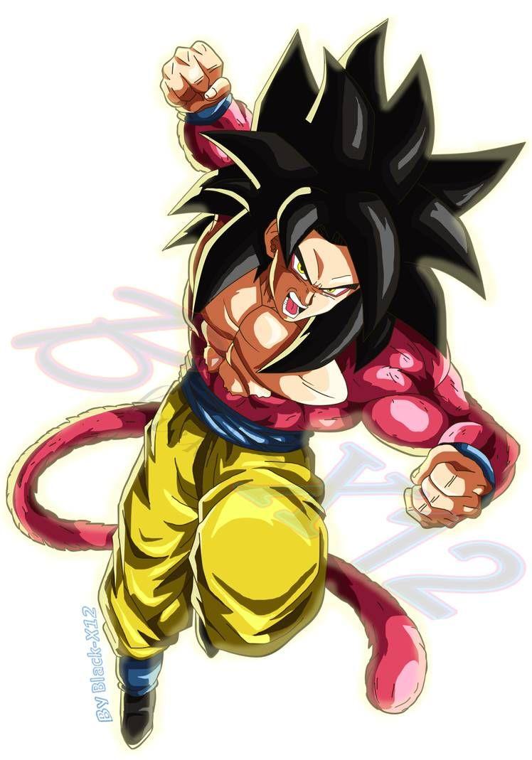 Goku Ssj4 Fighterz Style Fanmade V3 By Black X12 On Deviantart Dragon Ball Art Goku Ssj4 Dragon Ball Wallpapers