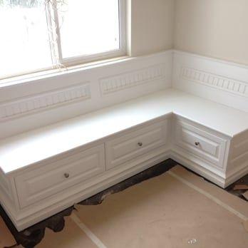 Custom Built Corner Bench Seat Yelp Booth Seating In Kitchen