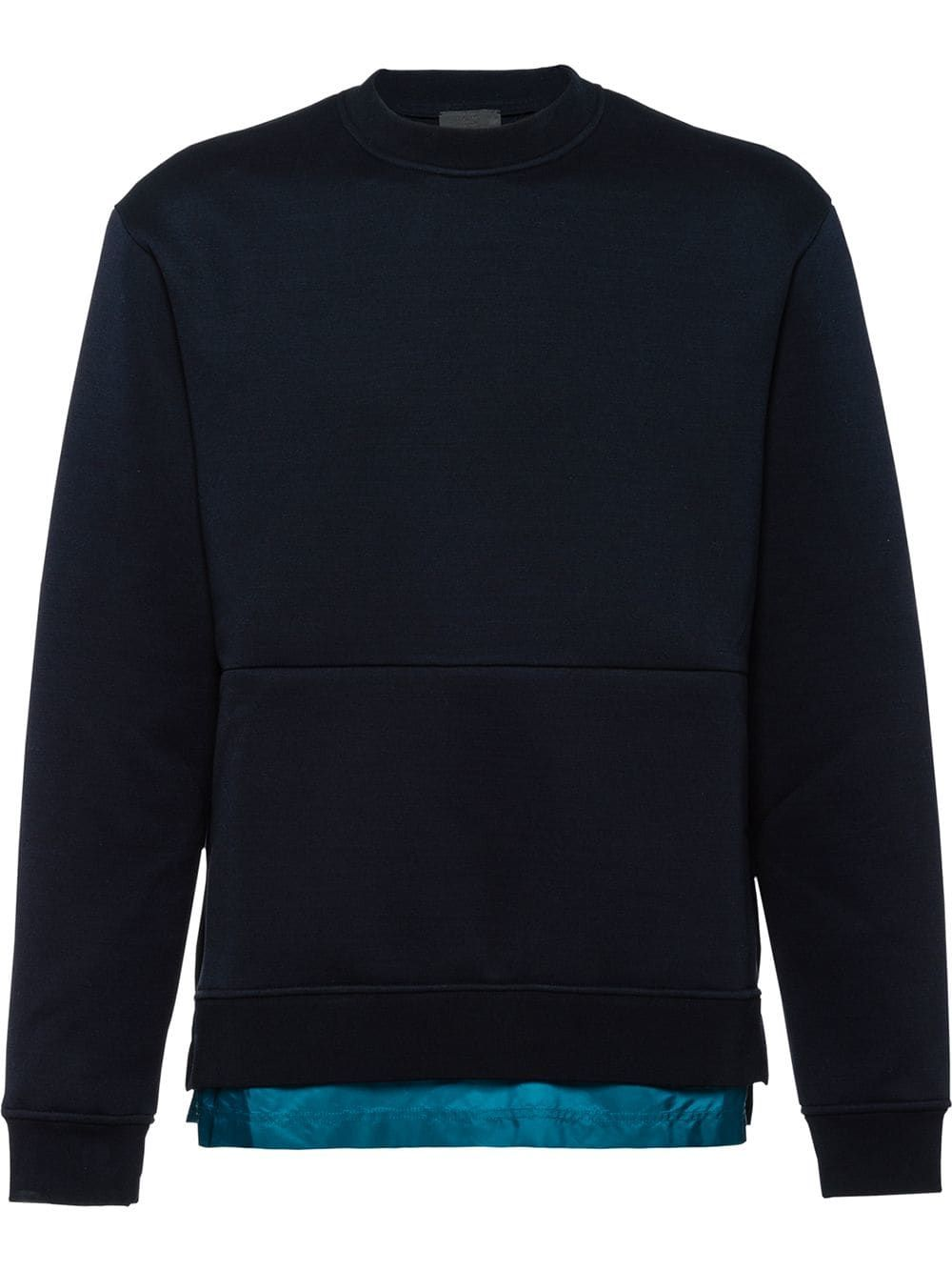 fa2a406b0d PRADA PRADA TECHNICAL COTTON SWEATSHIRT - BLUE. #prada #cloth ...