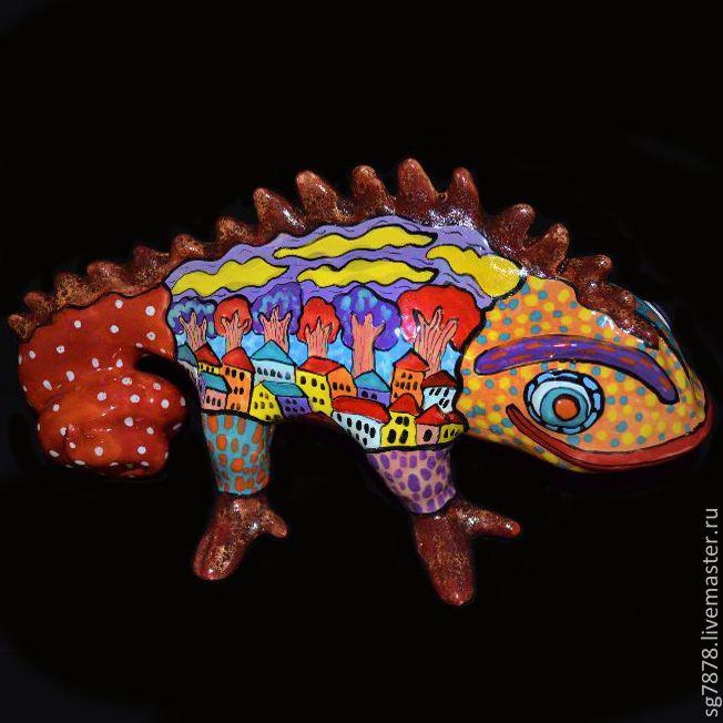 Игуана Необыкновенная - игуана,игуана керамическая ...