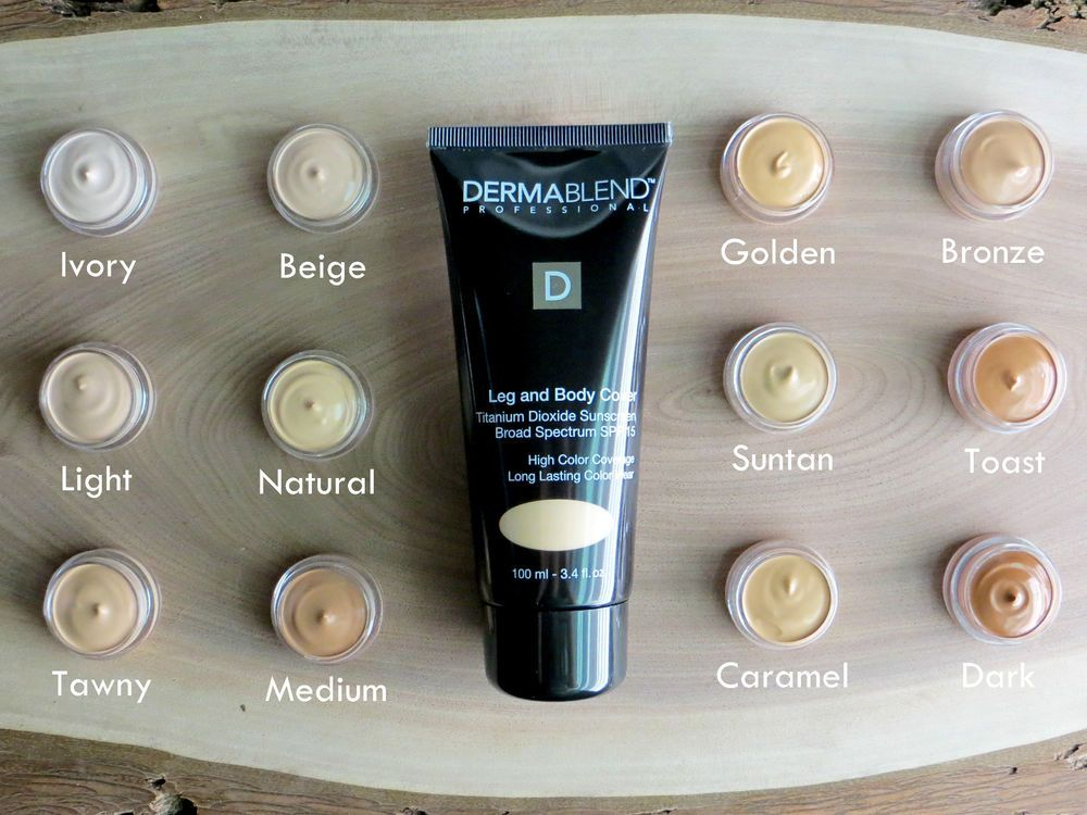 Dermablend Leg Body Cover Foundation Choose Color 5ml Sample Body Makeup Dermablend Body
