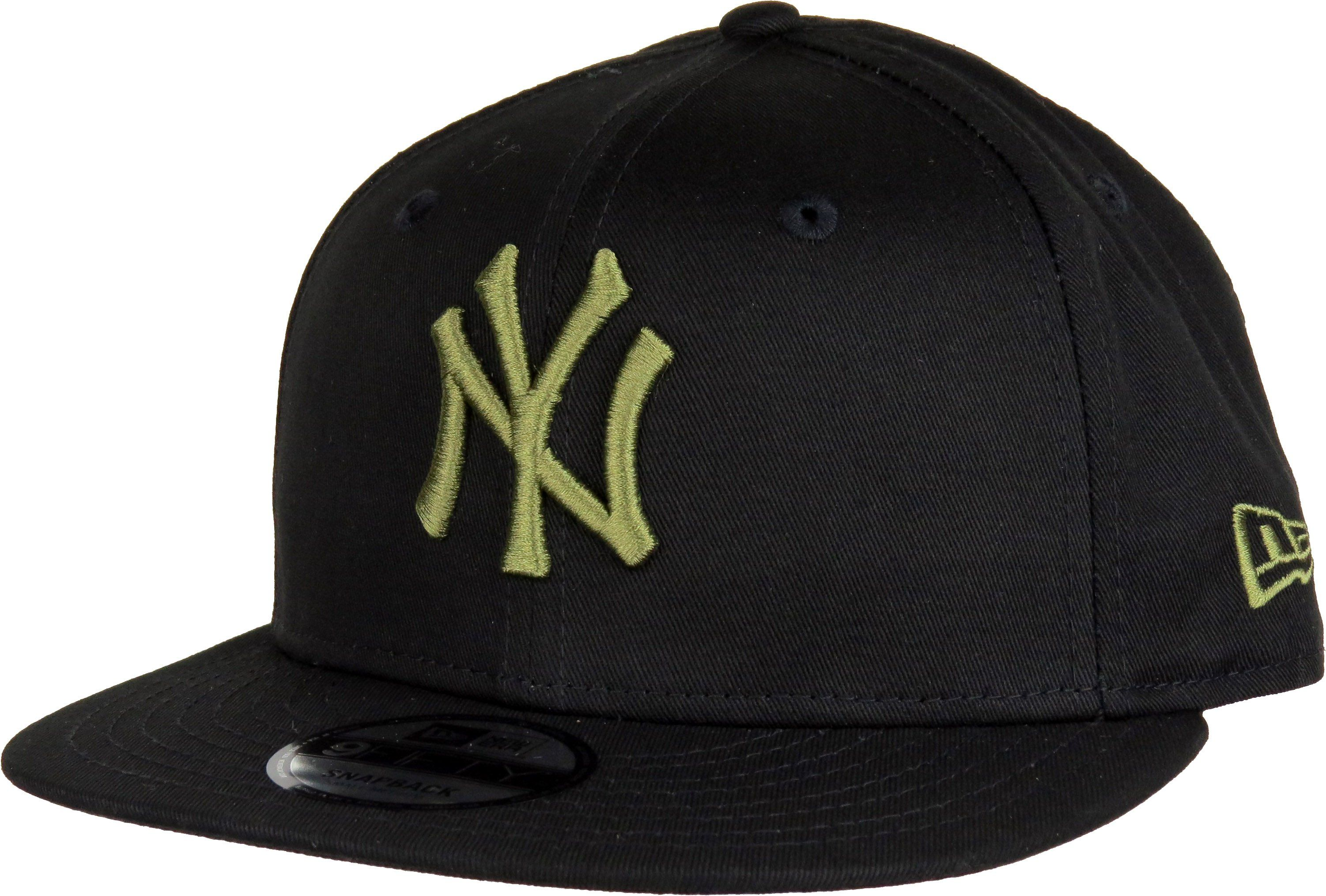 New Era 9Fifty League Essential Snapback Baseball Cap. Black with the Khaki  NY front logo 975ab8898b89