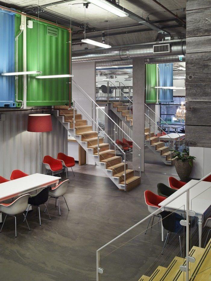 Interior container offices casas hechas con for Diseno de oficinas con contenedores