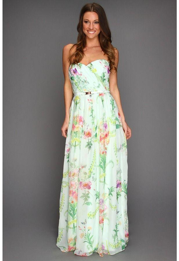 fdc31994cd Ted Baker - Serlant Wallpaper Floral Print Maxi Dress (Mint)