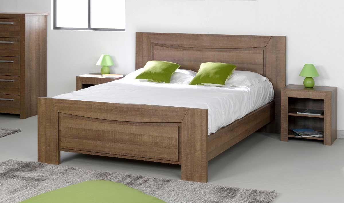 Lit Double Bois Massif Nouveau Lit Double Bois Massif Inspirant Lit En Bois Massif Pas Cher O In 2020 Bedroom Bed Design Bedroom Furniture Design Wooden Bed Design
