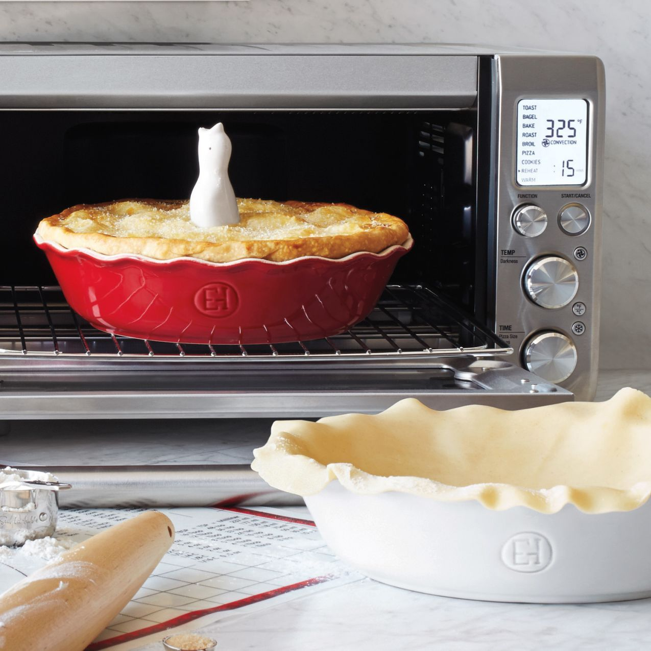 Toaster Oven Or Conventional Oven Your Pie Will Cook Perfectly Evenly In Your Emile Henry P Convection Oven Baking Countertop Oven Countertop Convection Oven