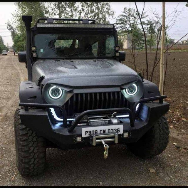 This Modified Mahindra Thar Looks Plain Angry Mahindra Thar Mahindra Thar Modified Custom Jeep