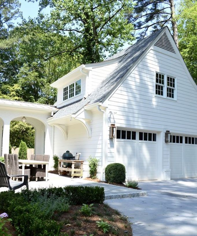Separate Garage Block Possibly With Studio Accommodation: Spring Curb Appeal: Gorgeous Garage DoorsBECKI OWENS