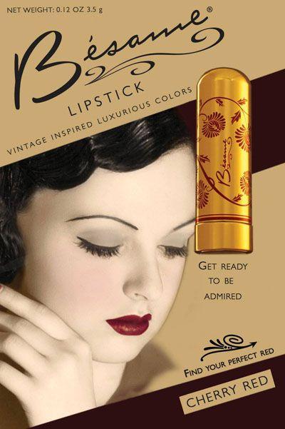 Besame Cherry Red Luxurious Color Lipstick   Ari's Closet ...