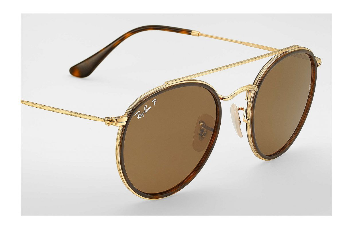 cf6e4945834 Óculos Ray Ban Round Double Bridge® - Marrom Degradê
