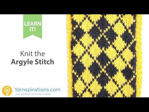 Learn how to knit the Argyle Stitch | Intarsia, Fair Isle, Color ...