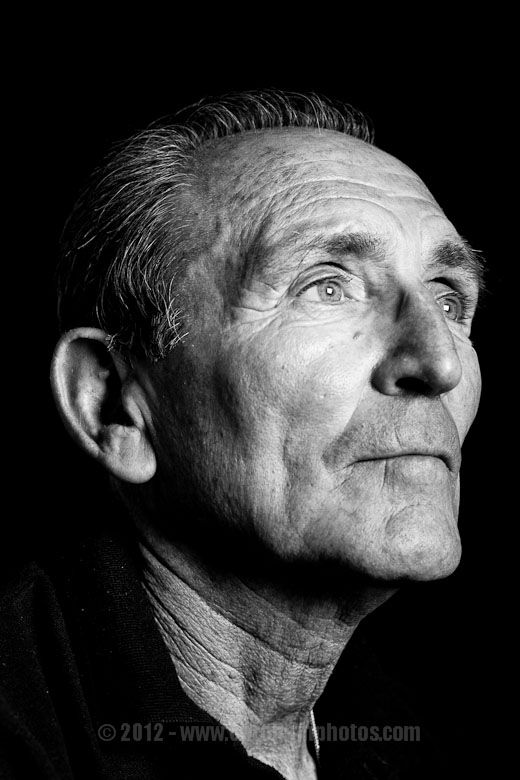 old man portrait - dramatic lighting