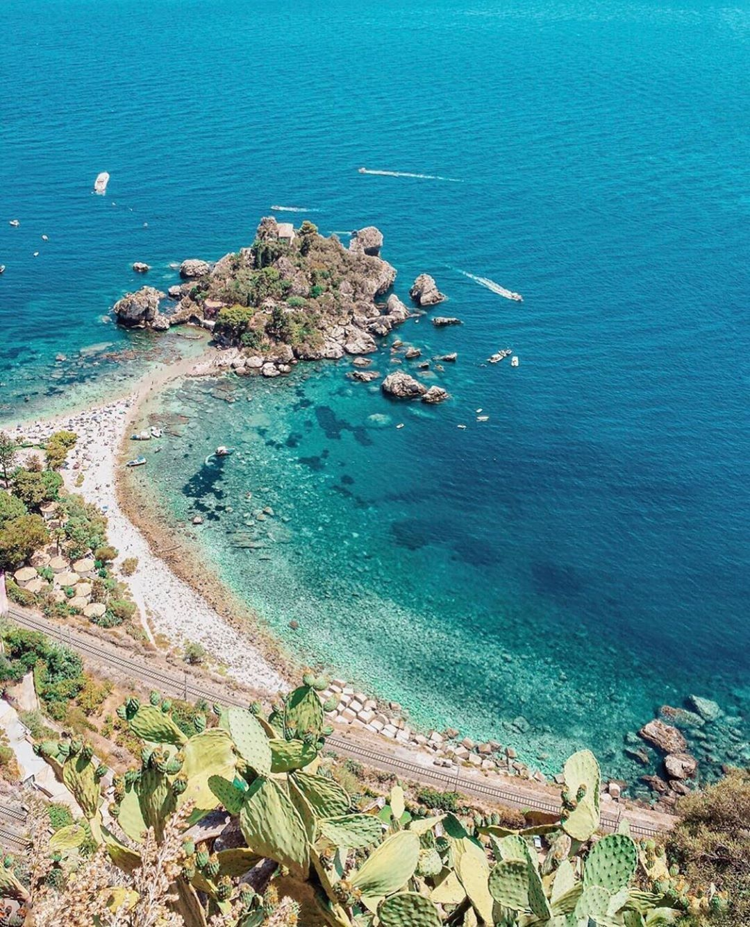 Isola Bella, Taormina, Sicily, Italy (With images