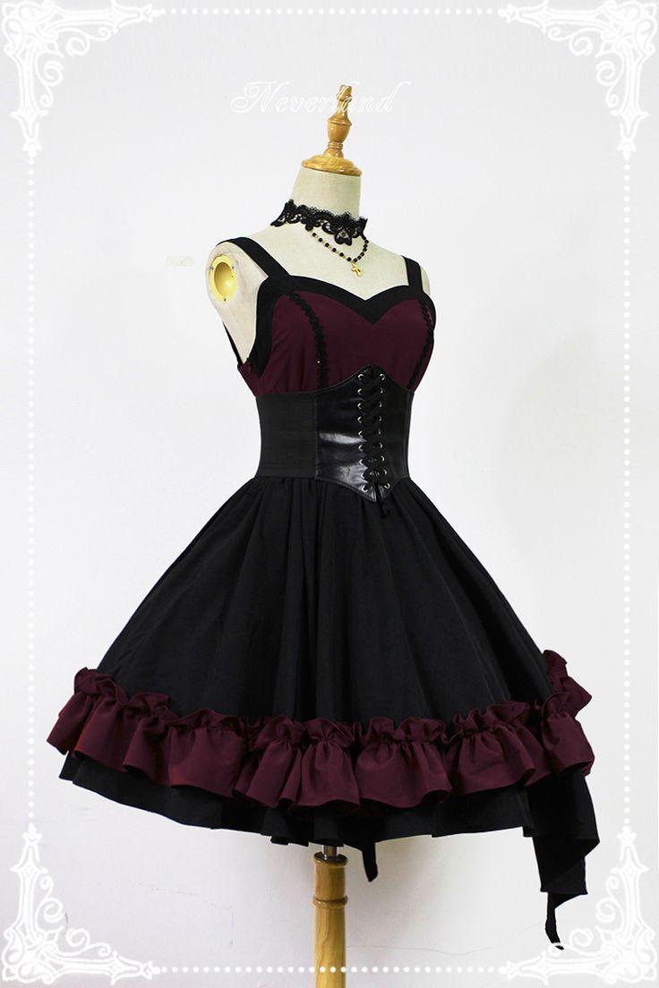 9db1a627c2f5 follow me  cushite Neverland Lolita -Blazing Angels- Lolita Corset Jumper  Dress Gothic Lolita