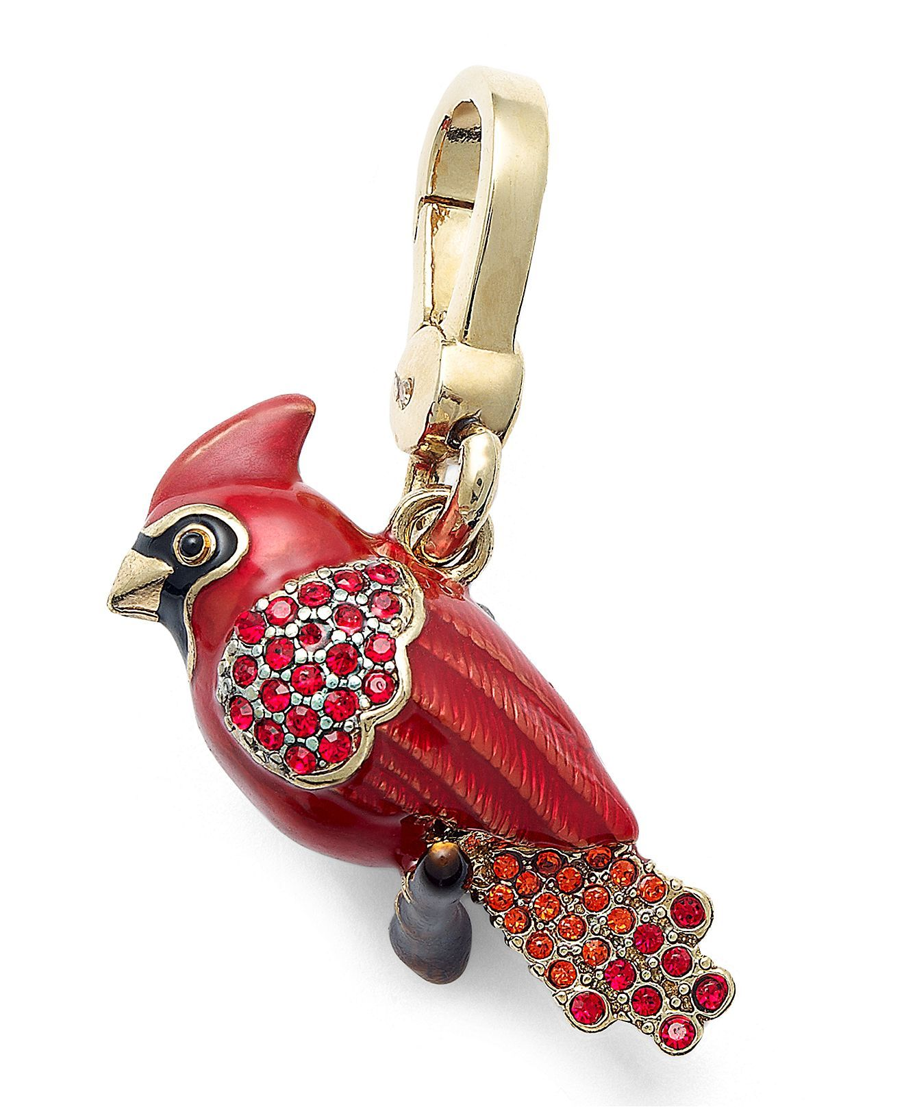 BIRDS!! Juicy Couture Charm, Gold Tone Red Cardinal Charm