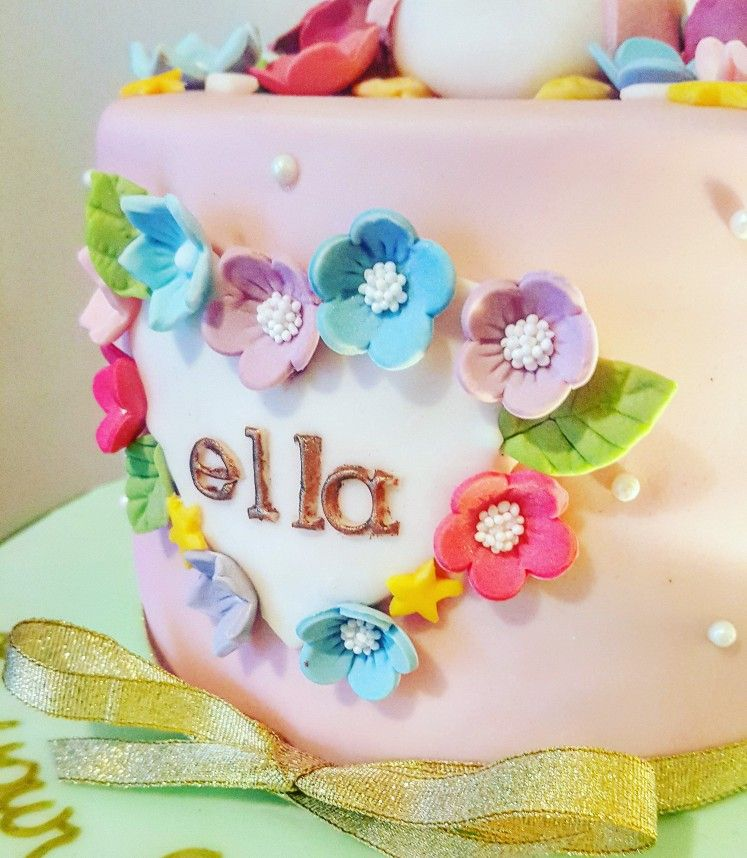 Christening Cake Nameplate Crumbscakerybyclaire