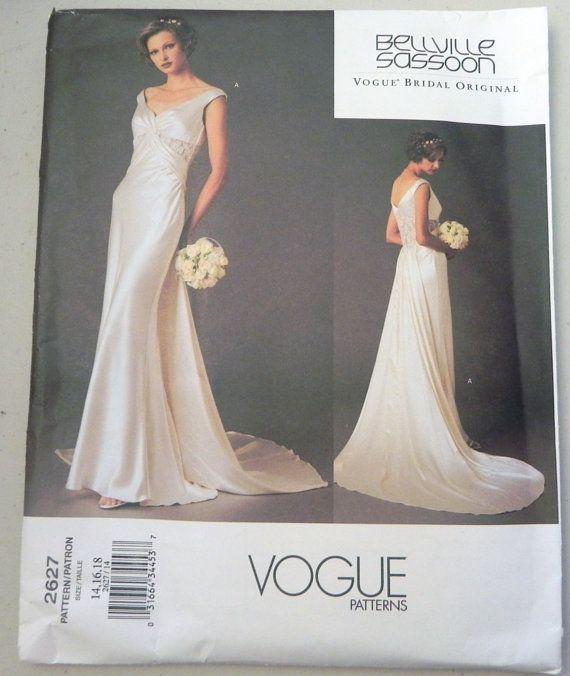 Vogue 2627 Bellville Sassoon Wedding dress pattern