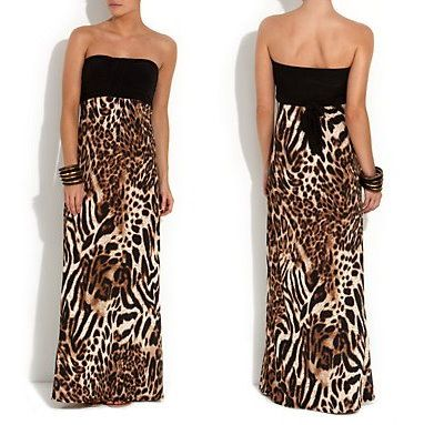 2cfa7fc91d Wild   Sensual Is What The New Look Animal Print Bandeau Maxi Dress Is All  About!