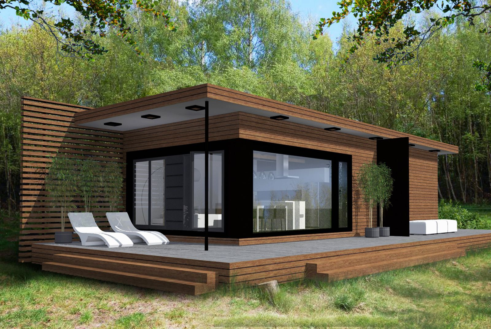 Modern cottage google paie ka modern contemporary for Simple modern tiny house